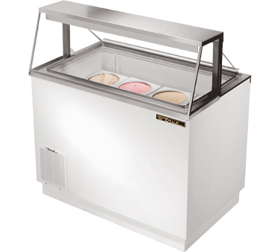 "True TDC-47 47"" Dipping Cabinet - Holds 4-Display & 5-Storage 3-gal Cans, White"