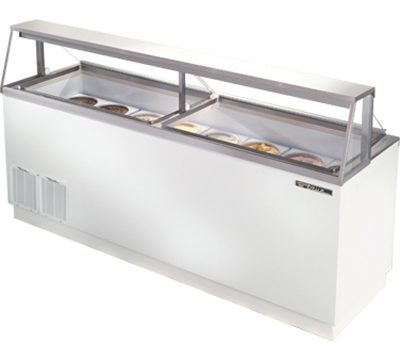 "True TDC-87 87"" Dipping Cabinet - Holds 16-Display & 12-Storage 3-gal Cans, White"