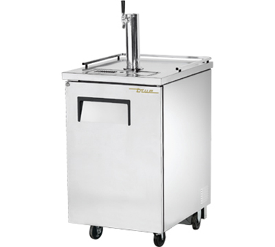 "True TDD-1-S 24"" Draft Beer Cooler - Holds (1) 1/2-Barrel, 1-Column, Stainless"
