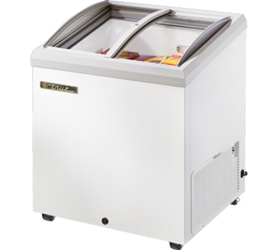 "True TFM-29AL WHT 29"" Horizontal Freezer - 2-Angled Sliding Lids, White"