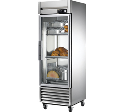 "True TH-23G 27"" Heated Cabinet - 1-Glass Door, Stainless/Aluminum"