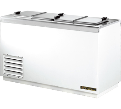 "True THDC-4SF 54"" Ice Cream Dipping Cabinet - (10)3-Gal Can Capacity, White 115v"