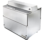 "49"" Mobile Milk Cooler - Holds 12-Crates, Dual Sided, All Stainless"
