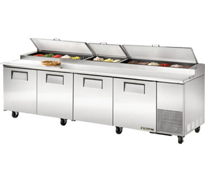 "True TPP-119 119.25"" Pizza Prep Table w/ Refrigerated Base, 115v"