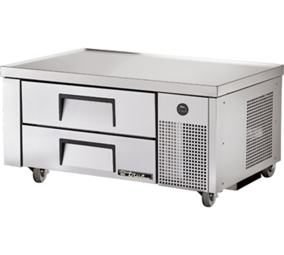"True TRCB-48 48"" Refrigerated Chef Base - 2-Drawers, Aluminum/Stainless"