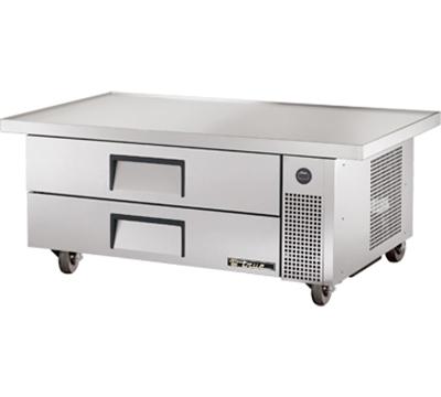 "True TRCB-52-60 60"" Chef Base w/ (2) Drawers - 115v"