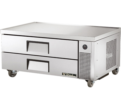 "True TRCB-52 52"" Refrigerated Chef Base - 2-Drawers, Aluminum/Stainless"