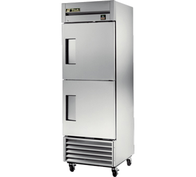 "True TS-23-2 27"" Reach-In Refrigerator - 2-Solid Half Doors, All Stainless"