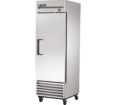 "True TS-23 27"" Reach-In Refrigerator - 1-Solid Door, All Stainless"