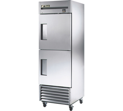 "True TS-23F-2 27"" Reach-In Freezer - 2-Solid Half Doors, All Stainless"