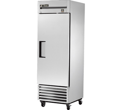 "True TS-23F 27"" Reach-In Freezer - 1-Solid Door, All Stainless"