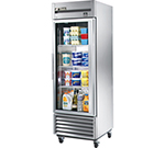 "27"" Reach-In Refrigerator - 1-Glass Door, All Stainless"