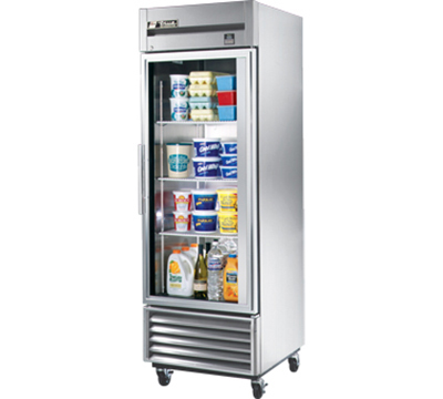 "True TS-23G 27"" Reach-In Refrigerator - 1-Glass Door, All Stainless"