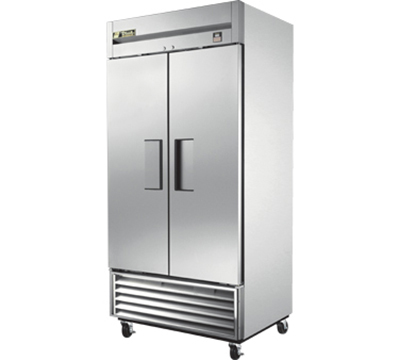 "True TS-35 40"" Reach-In Refrigerator - 2-Solid Doors, All Stainless"