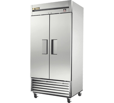 "True TS-35F 40"" Reach-in Freezer - 2-Solid Doors, All Stainless"