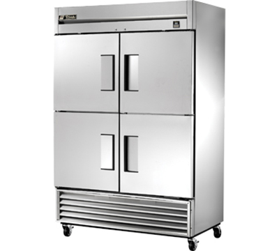 "True TS-49F-4 54"" Reach-In Freezer - 4-Solid Half Doors, All Stainless"