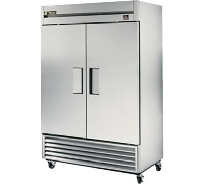 "True TS-49F 54"" Reach-In Freezer - 2-Solid Doors, All Stainless"