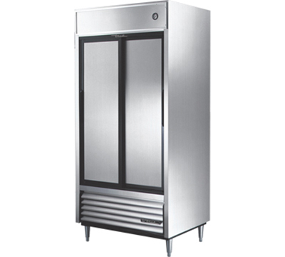 "True TSD-33 40"" Reach-In Refrigerator - 2-Solid Sliding Doors, Stainless/Aluminum"