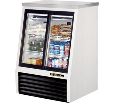 "True TSID-36-4 36"" Pass-Thru Single Duty Deli Case - 2-Front/2-Rear Doors, White"