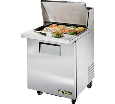 "True TSSU-27-12M-B 27"" Mega Top Sandwich Unit - Holds (9) 1/6-Pans, 1-Door"