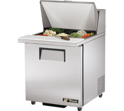 "True TSSU-27-12M-B-ADA 27"" Mega Top Sandwich Unit - Holds (9) 1/6-Pans, 1-Door, ADA"