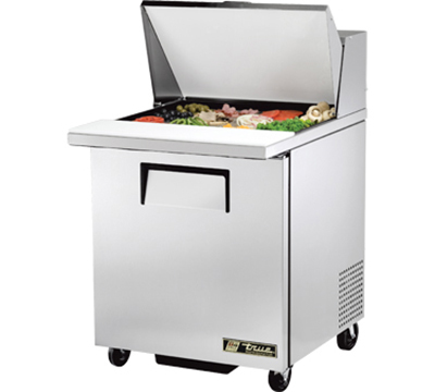 "True TSSU-27-12M-C 27"" Mega Top Sandwich Unit - Holds (12) 1/6-Pans, 1-Door"