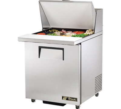 "True TSSU-27-12M-C-ADA 27"" Mega Top Sandwich Unit - Holds (12) 1/6-Pans, 1-Door, ADA"