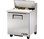 """True TSSU-27-8 27.88"""" Sandwich/Salad Prep Table w/ Refrigerated Base, 115v"""