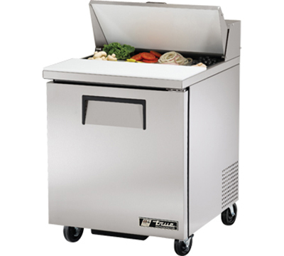 "True TSSU-27-8 27.88"" Sandwich/Salad Prep Table w/ Refrigerated Base, 115v"