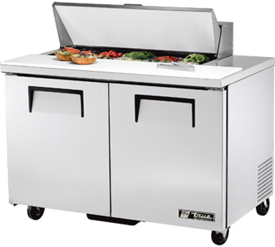 "True TSSU-48-10 48.38"" Sandwich/Salad Prep Table w/ Refrigerated Base, 115v"