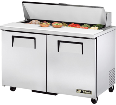 "True TSSU-48-12 48.38"" Sandwich/Salad Prep Table w/ Refrigerated Base, 115v"