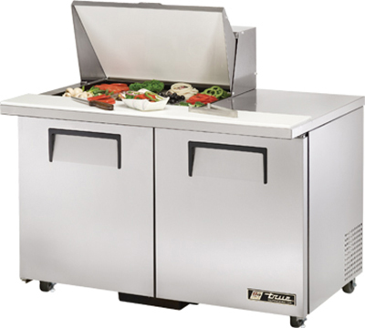 "True TSSU-48-12M-BADA 48"" Mega Top Sandwich Unit - Holds (12) 1/6-Pans, 2-Doors, ADA"