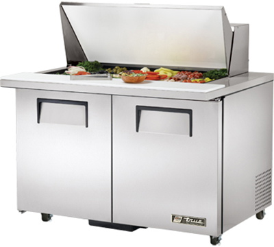"True TSSU-48-18M-B-ADA 48"" Mega Top Sandwich Unit - Holds (18) 1/6-Pans, 2-Doors, ADA"
