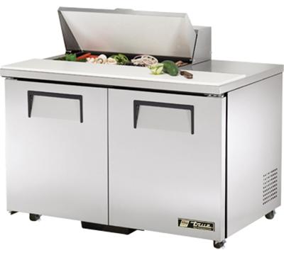 """True TSSU-48-8-ADA 48.38"""" Sandwich/Salad Prep Table w/ Refrigerated Base, 115v"""