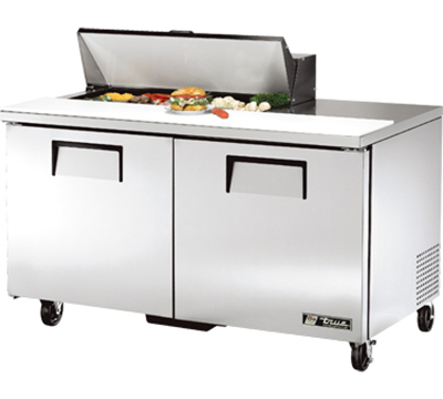 "True TSSU-60-10 60.38"" Sandwich/Salad Prep Table w/ Refrigerated Base, 115v"