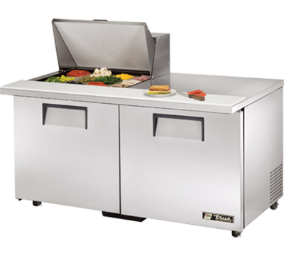 "True TSSU-60-12M-B-ADA 60"" Mega Top Sandwich Unit - Holds (12) 1/6-Pans, 2-Doors, ADA"