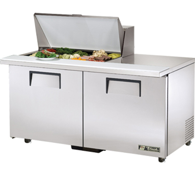 "True TSSU-60-15M-B-ADA 60"" Mega Top Sandwich Unit - Holds (15) 1/6-Pans, 2-Doors, ADA"