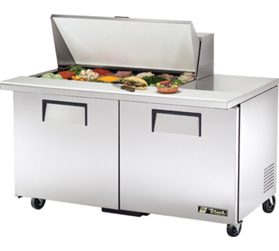 "True TSSU-60-18M-B 60"" Mega Top Sandwich Unit - Holds (18) 1/6-Pans, 2-Doors"