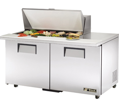 "True TSSU-60-18M-B-ADA 60"" Mega Top Sandwich Unit - Holds (18) 1/6-Pans, 2-Doors, ADA"