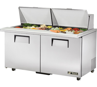 "True TSSU-6024MBSTADA 60"" Mega Top Sandwich Unit - Holds (24) 1/6-Pans, 2-Doors, ADA"