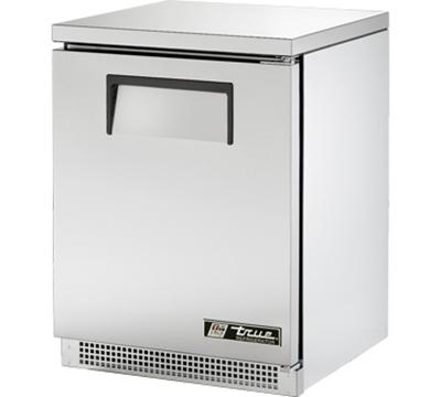 """True TUC-24 24"""" Undercounter Refrigerator - 1-Solid Door, Aluminum/Stainless"""