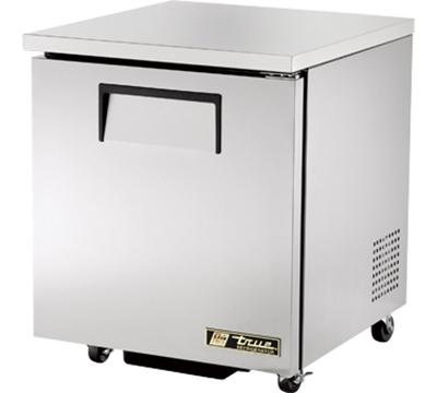 """True TUC-27-ADA 27"""" Undercounter Refrigerator - 1-Solid Door, Aluminum/Stainless, ADA"""