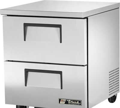True TUC-27D-2 6.5-cu ft Undercounter Refrigerator w/ (1) Section & (2) Drawers, 115v