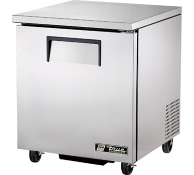 "True TUC-27F 27"" Undercounter Freezer - 1-Solid Door, Aluminum/Stainless"