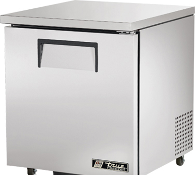 "True TUC-27F-ADA 27"" Undercounter Freezer - 1-Solid Door, Aluminum/Stainless, ADA"