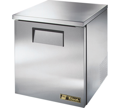 "True TUC-27F-LP 27"" Low Profile Undercounter Freezer - 1-Solid Door, Aluminum/Stainless"