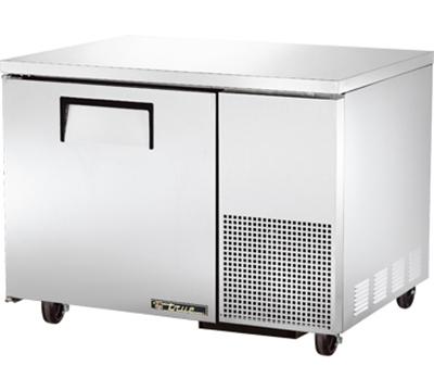 "True TUC-44 44"" Deep Undercounter Refrigerator - 1-Solid Door, Aluminum/Stainless"