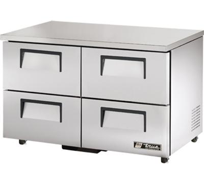 "True TUC-48D-4-ADA 48"" Undercounter Refrigerator - 4-Drawers, Aluminum/Stainless, ADA"