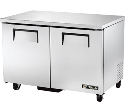 "True TUC-48F 48"" Undercounter Freezer - 2-Solid Doors, Aluminum/Stainless"