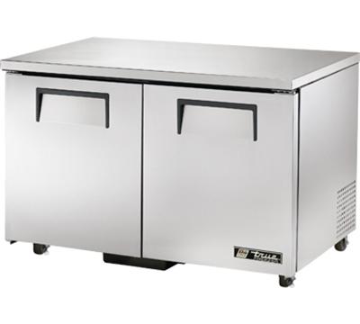 """True TUC-48F-ADA 48"""" Undercounter Freezer - 2-Solid Doors, Aluminum/Stainless, ADA"""